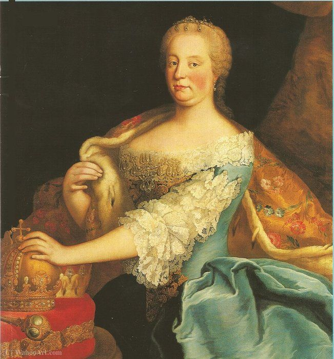 Empress Maria Theresa as Queen of Hungary. by Martin Van Meytens (1695-1770, Sweden)