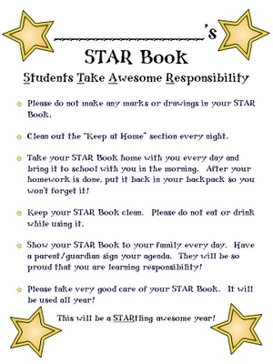 Star Book Binder Cover  The Bomb-Diggity Classroom
