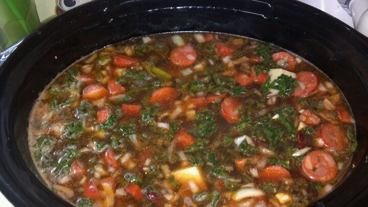Portuguese Kale Soup | Recipes to try | Pinterest