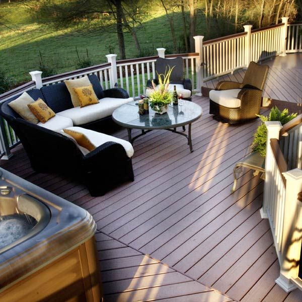 138 best composite low maintenance deck ideas images on for Outdoor decking material