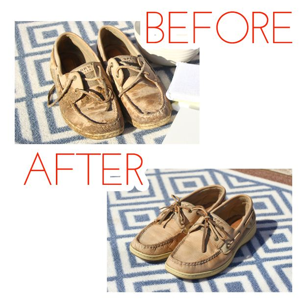 The best way to clean your Sperrys after spending time in the barn.