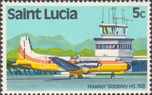 St Lucia 1980 Transport SG 537 Aircraft Fine Mint SG 537 Scott 504 Condition Fine MNH Only one post charge applied on multipule purchases Details N B