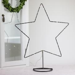Smide Stjärna med batteridriven LED ljusslinga