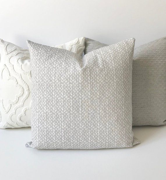 Light French Gray And White Modern Pebble Dots Print Etsy Decorative Pillow Covers Pillows Decorative Pillows