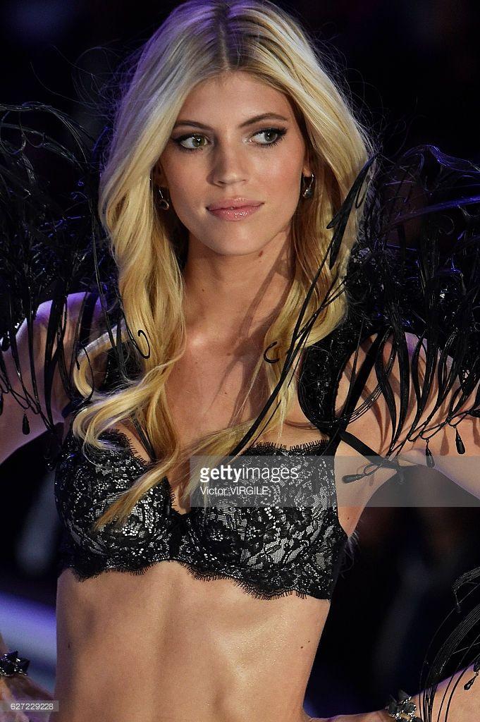 Devon Windsor walks the runway during the 2016 Victoria's Secret Fashion Show on November 30, 2016 in Paris, France.