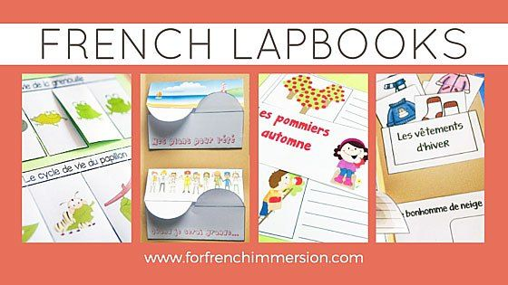 French Lapbooks: des dossiers interactifs en français. Interactive activities for notebook and lapbooks.