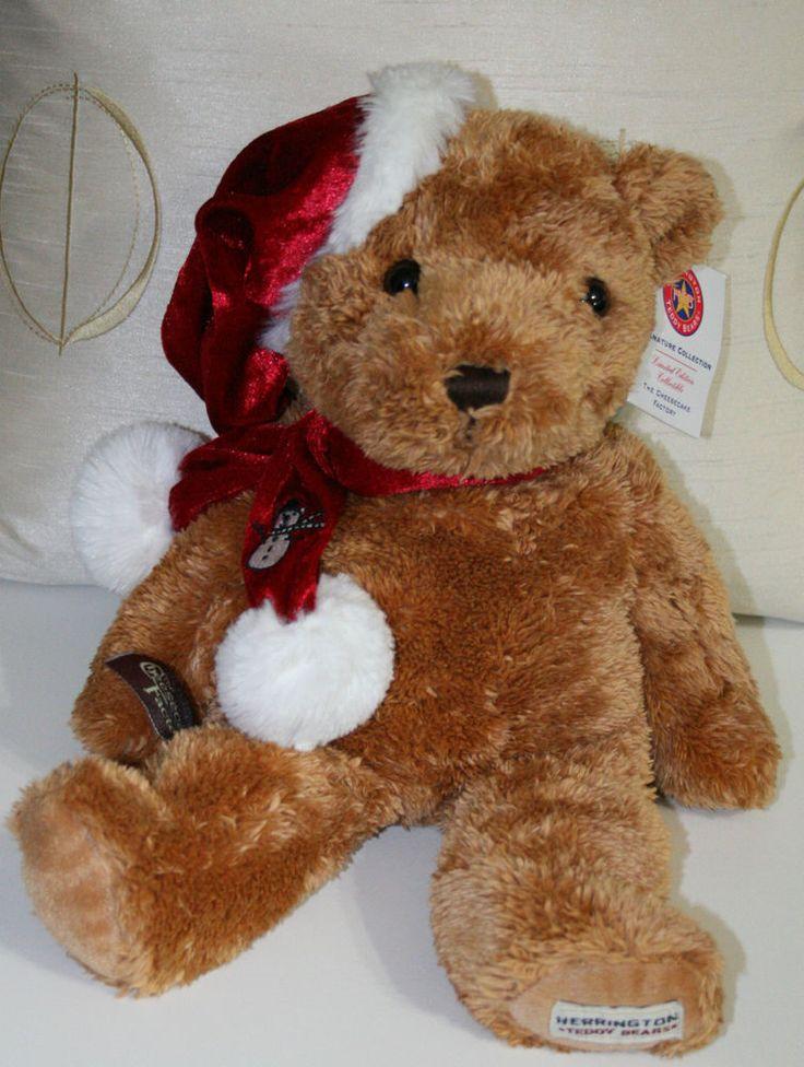 2007 Herrington Teddy Bear Stuff Plush Cheescake Factory Christmas Pecan Turtle #HerringtonBear #CheescakeFactory