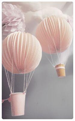 DIY Lampions montgolfières