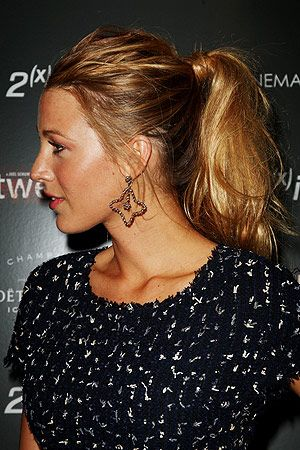 The high ponytail. Blake Lively does it best in my opinion.