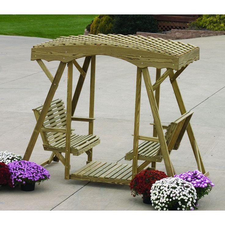 loopita bonita outdoor furniture. LuxCraft Rollback Double Lawn Glider With Lattice Roof Loopita Bonita Outdoor Furniture