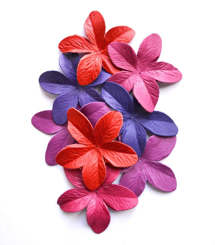 lily leather flower set di TrivialFashion su Etsy