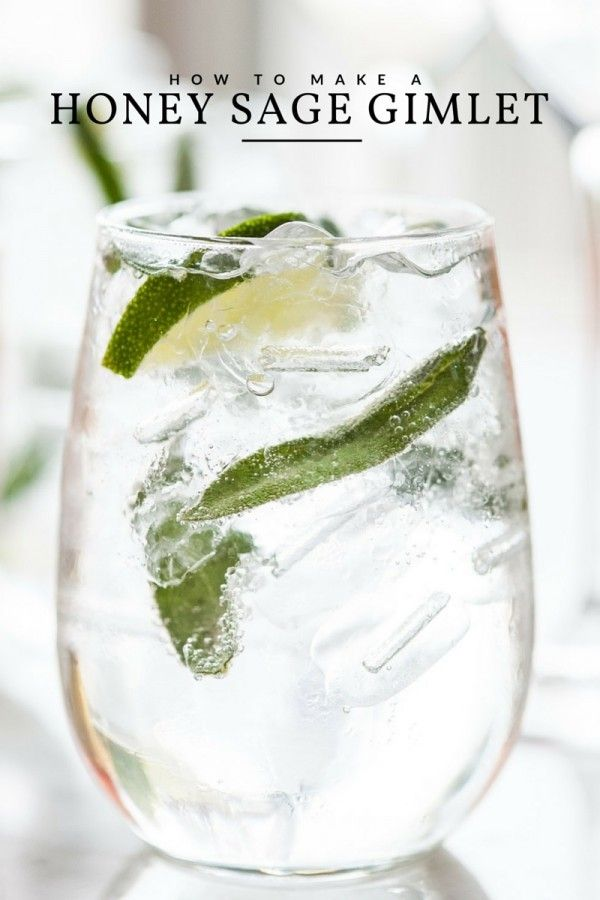 Classic Gimlet Recipe with Honey and Sage
