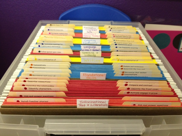Files for each of the math and literacy Common Core standards. For keeping lesso…