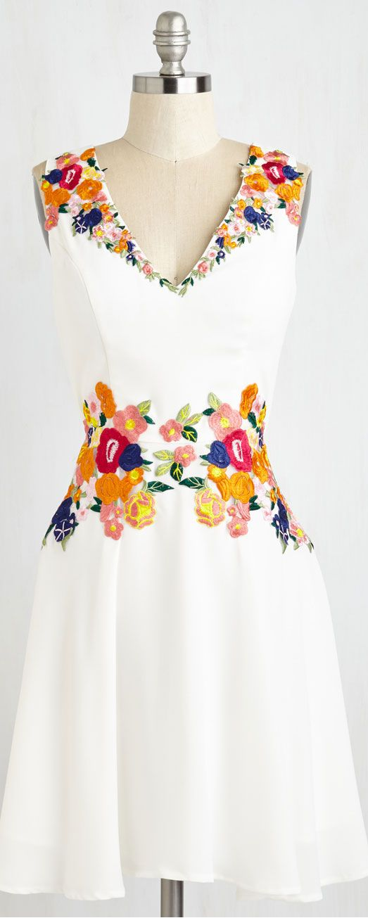 Inspiration: floral embroidered dress