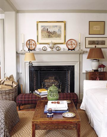 Cottage Style Really Lasts. Cottage FireplaceLiving Room ...