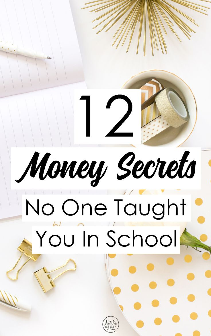 12 Money Secrets No One Taught You In School | Natalie Bacon