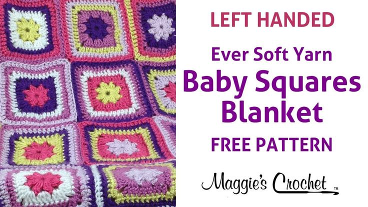 Crochet Patterns Left Handed : Baby Squares Blanket Free Crochet Pattern - Left Handed