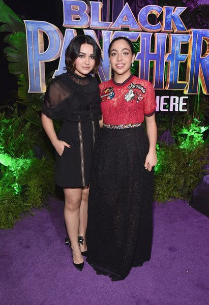 Allegra Acosta Photos - Actors Ariela Barer (L) and Allegra Acosta at the Los Angeles World Premiere of Marvel Studios' BLACK PANTHER at Dolby Theatre on January 29, 2018 in Hollywood, California. - The Los Angeles World Premiere of Marvel Studios' 'Black Panther'