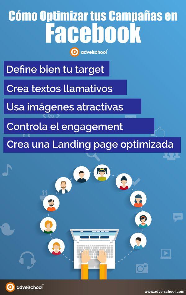 Cómo Optimizar tus Campañas en Facebook #infografia #infographic #marketing