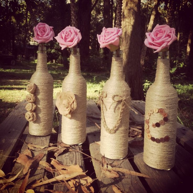 Love bottles....enjoy your empty bottles with easy creations