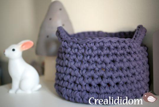 t-shirt yarn trapilho panier