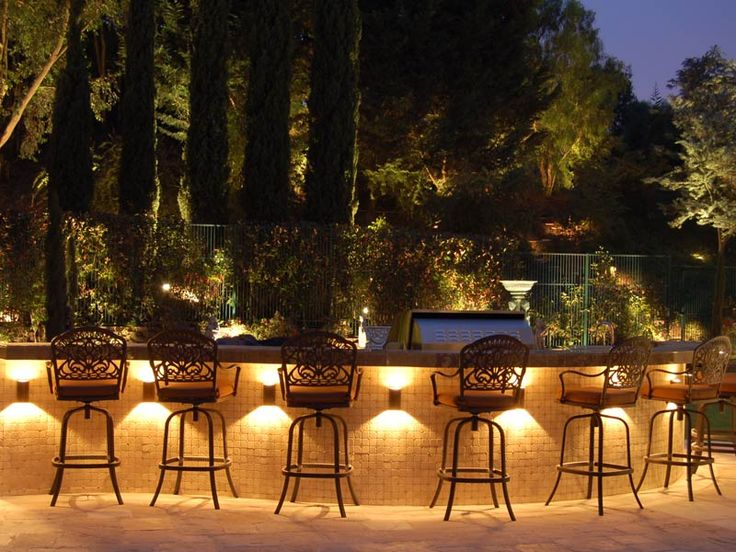 Exterior  Modern Summer Kitchen Design Feat Metal Barstools And Cool Outdoor  Lighting Under Bar Table Idea   Designing Outdoor Lighting Ideas58 best Landscape Lighting images on Pinterest   Outdoor lighting  . Outside Lighting Design. Home Design Ideas