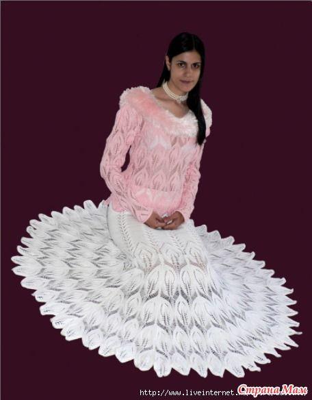 """Расклешенная юбка """"Павлинье перо"""""""