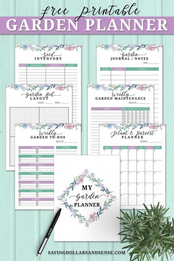 This Free Garden Journal Planner Includes A Weekly Gardening To Do