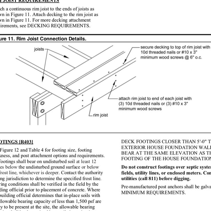 Code compliance. Its often small details that make large differences. Take for example the correct fastening of the exterior band board. Code states that the first decking board be fastened to the band with 1- 3 (10d) nails not 2.5 (8d) which would be common for the rest of the decking. 2- that the decking be attached to the band at 6 OC. Standard deck practices from years ago are often inconsistent with todays code requirements. Are you familiar with some of the changes from 2012?…