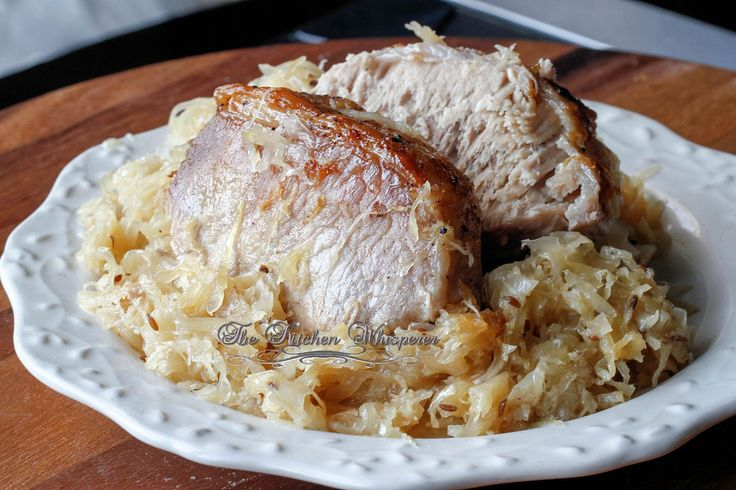 New year pork roast and sauerkraut