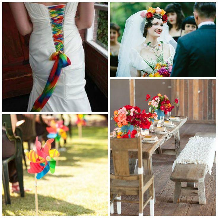 regenboog bruiloft inspriratie