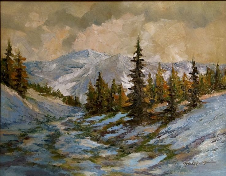32 Best Oil Landscape Paintings By Gq Zheng Images On