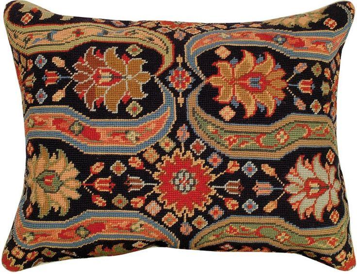 Needlepoint Afshar III Pillow