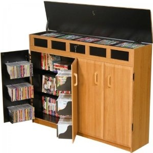 VHZ Entertainment Top Load Multimedia Cabinet Finish: Black & Oak by Venture Horizon  http://www.60inchledtv.info/tvs-audio-video/television-accessories/cd-racks/vhz-entertainment-top-load-multimedia-cabinet-finish-black-oak-com/
