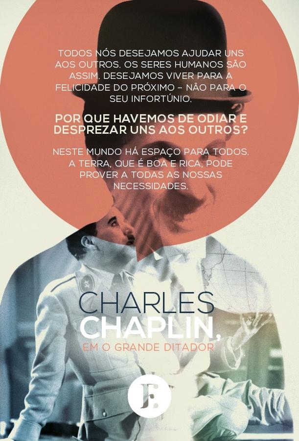 No dia 15 de outubro de 1940 estreava nos EUA o filme O Grande Ditador, de Chaplin, com um dos mais belos discursos da história do cinema.