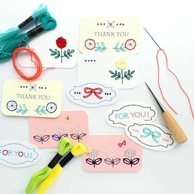 card embroidery: annastwutea