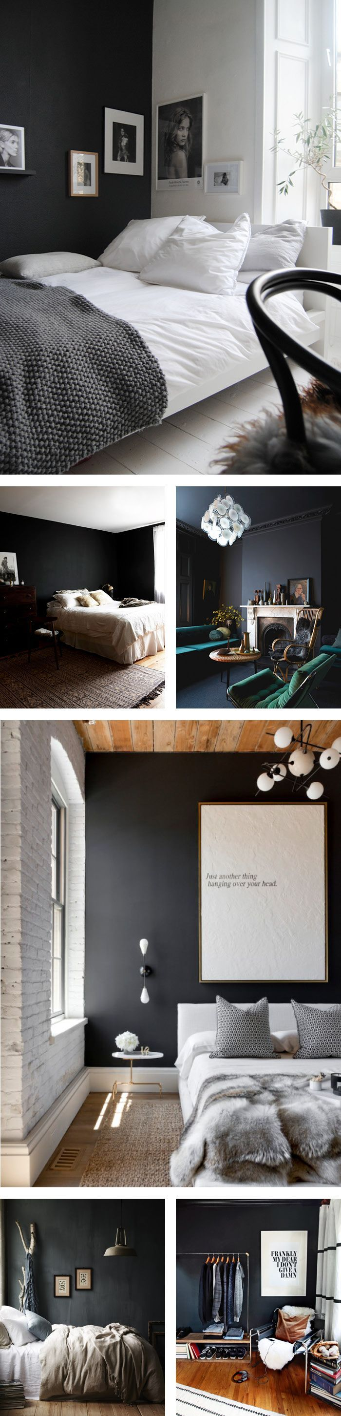1000 ideen zu dunkle schlafzimmer auf pinterest. Black Bedroom Furniture Sets. Home Design Ideas