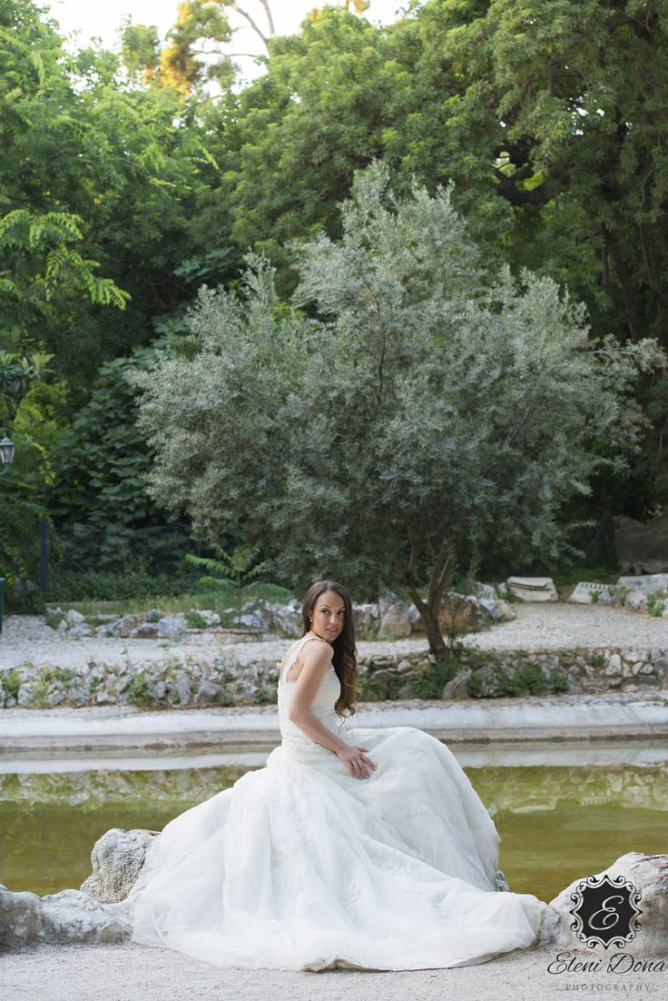 Bridal full body portrait. Next day photo shoot in Athens, Greece.