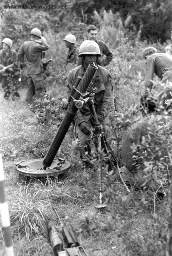 Vietnam War, 81mm Mortar.  #VietnamWarMemories https://www.pinterest.com/jr88rules/vietnam-war-memories-2/