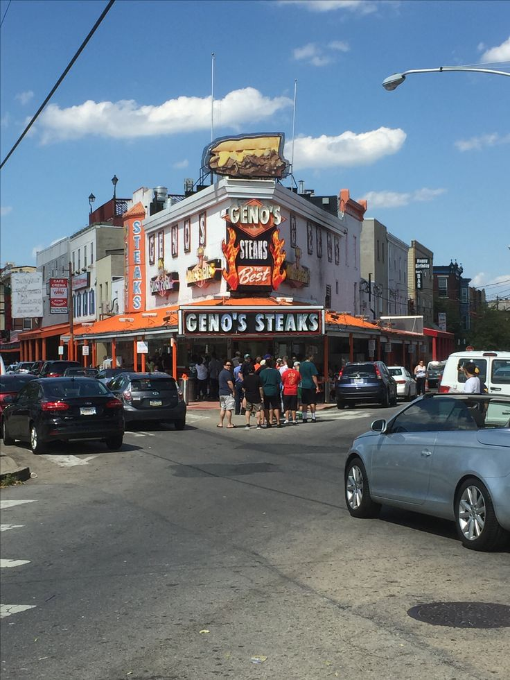 Geno's Steaks in Philadelphia. Mo's Favorite Steaks!