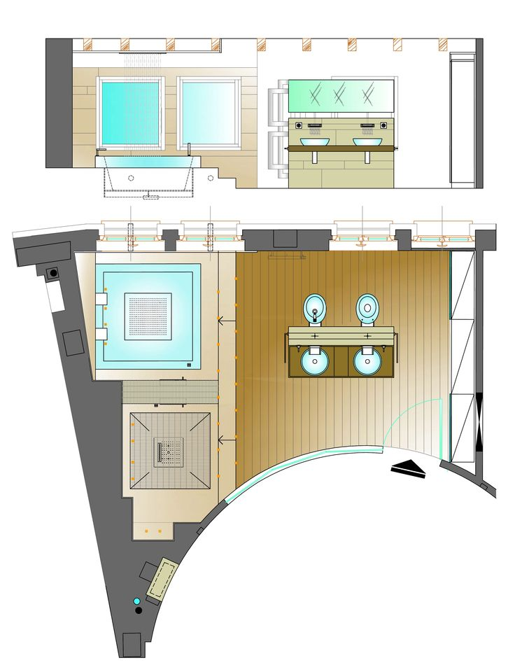Ristrutturazione appartamento in dimora storica - Pianta bagno camera ...
