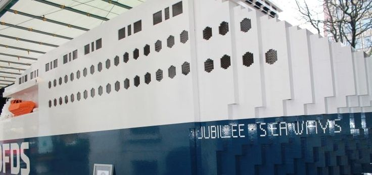 DFDS unveils world's largest LEGO ferry for European Shipping Week