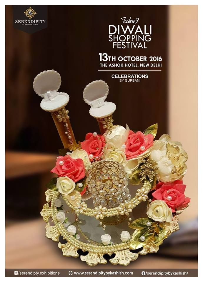 Celebrations by Gurbani-dealing in all kinds of gift packings , trousseau packings, baby shower packings, exclusive ring platters , chain platters, ginni platters, dry fruits platter @ Diwali Shopping Festival Take 9 on 13th October, at The Ashok, New Delhi.#SerendipityTake9 #Delhievent #DiwaliShoppingFestival