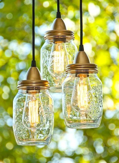 I would hang these mason jar lights right over the love seat and table. #anthropologie #PinToWin