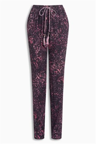 Rainforest Print Tapered Trousers