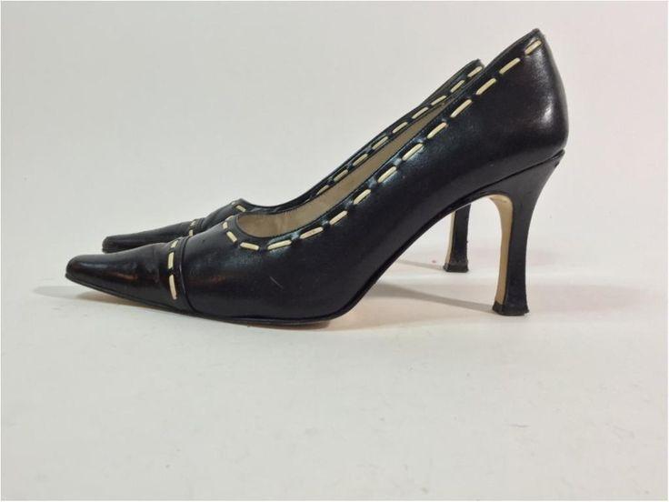Annons på Tradera: Rizzo, Svarta Högklackade Skor i Läder, Strl: 39
