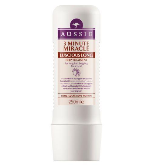 Aussie 3 Minute Miracle Deep Hair Treatment Luscious Long 250ml - Boots