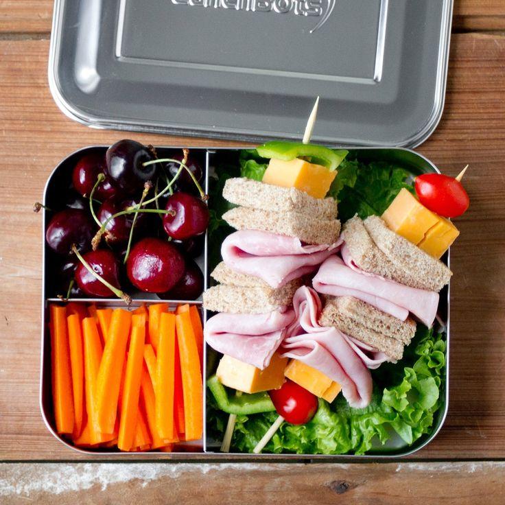 LunchBots - Bento Trio Brotdose mit 3 Fächern, Edelstahl: Amazon.de: Küche & Haushalt