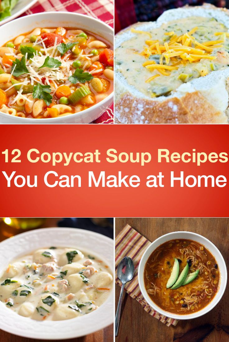 There's no need to run up a bill at your favorite restaurant to enjoy your favorite soup. Simply think copycat and get cooking in your kitchen! 1. Panera Bre