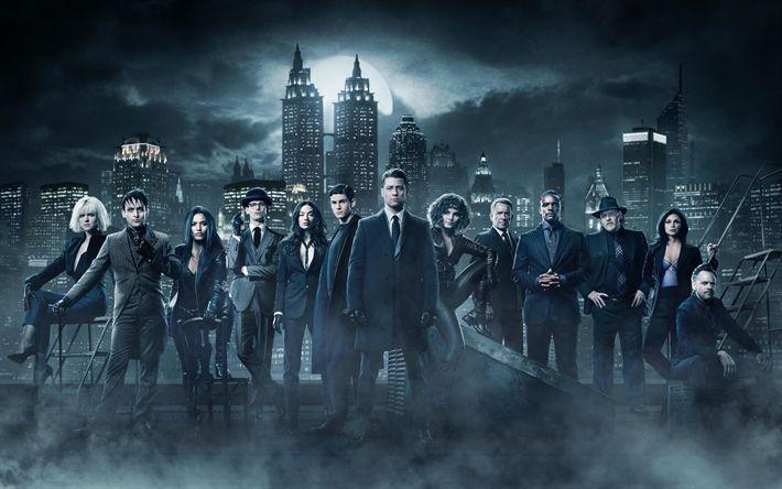Télécharger fonds d'écran Gotham, Saison 4, 4k, d'une affiche, en 2017, de cinéma, de théâtre, de TÉLÉVISION de la série